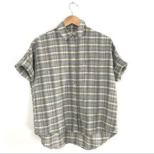 Madewell Courier Shirt in Serene Plaid Small B1